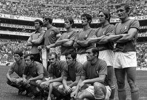 Sport, Football, 1970 World Cup Semi Final, Mexico City, Mexico, 17th June 1970, Italy 4 v West Germany 3, The Italian team that beat West Germany in the semi-final match, They are Back Row L-R: Enrico Albertosi, Giacinto Facchetti, Roberto Rosato, Angelo